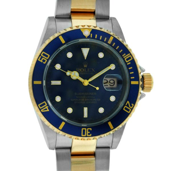 Rolex 16613 Submariner Date Two,Tone Blue Dial Watch