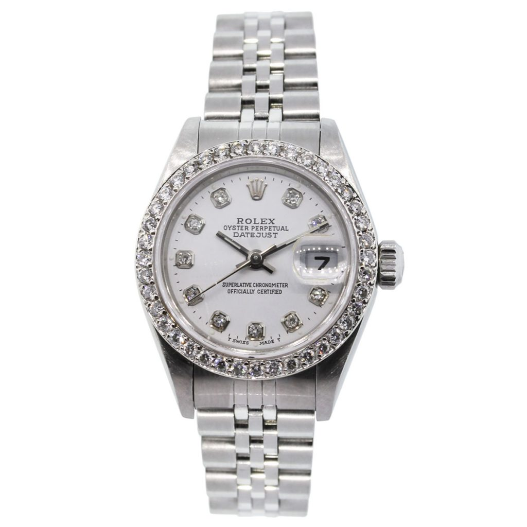 Rolex datejust 79190 diamond bezel diamond dial watch for Diamond dial watch
