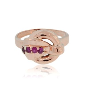 You are viewing this 14k Rose Gold Vintage Ruby Ring