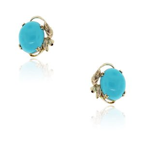 Gold Turquoise Earrings!