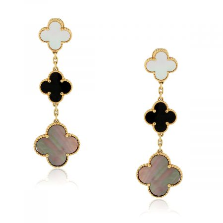 You are viewing this Van Cleef & Arpels Magic Alhambra 3 Motifs Earclips