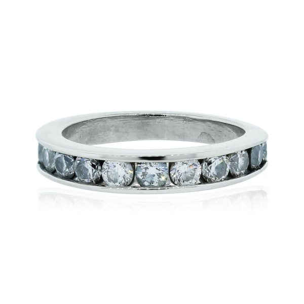 You are viewing this 14k White Gold .45ctw Diamond Wedding Band Ring!