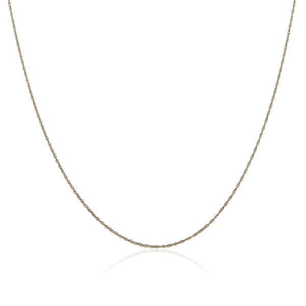 """You are viewing this 14k Yellow Gold 15.50"""" Chain Necklace!"""