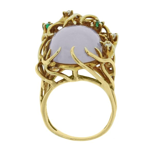 yellow gold gemstone ring