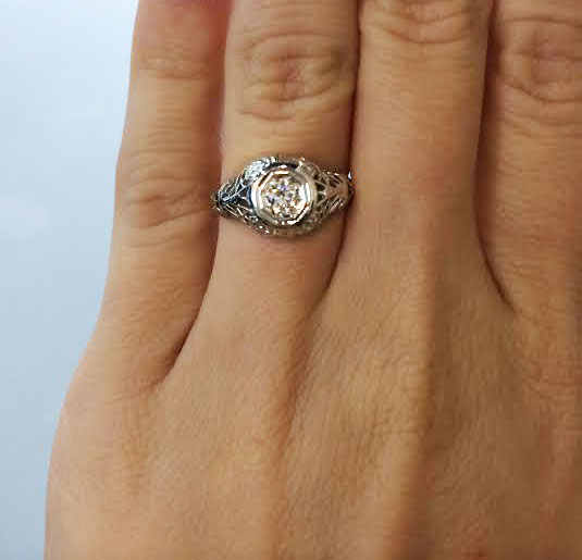 Antique Engagement RIng Raymond Lee Jewelers