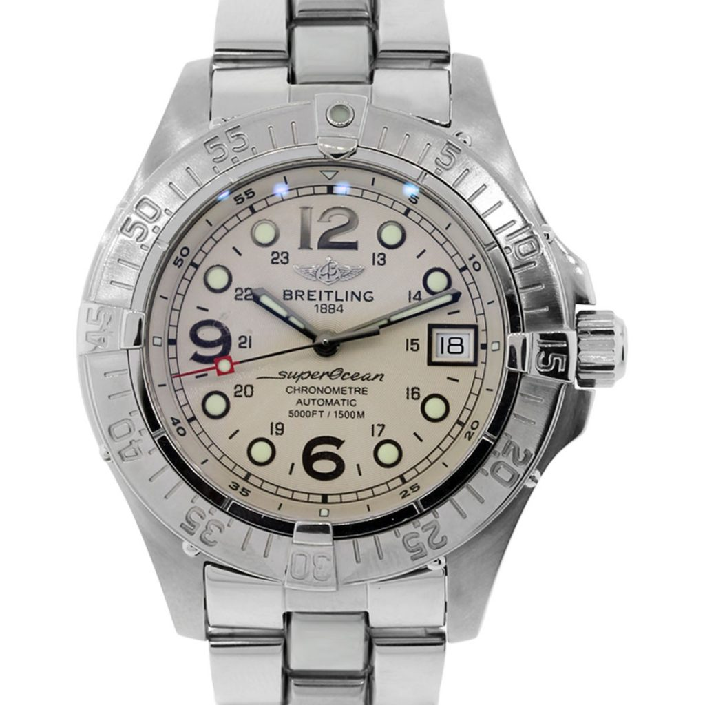 Breitling a17360 superocean stainless steel gents watch for Watches breitling
