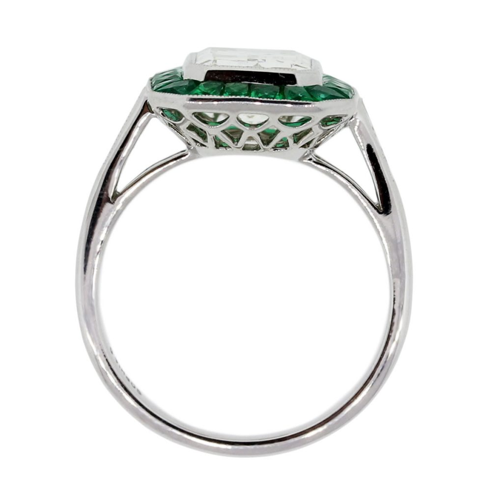 platinum 2 51ct emerald cut emerald halo