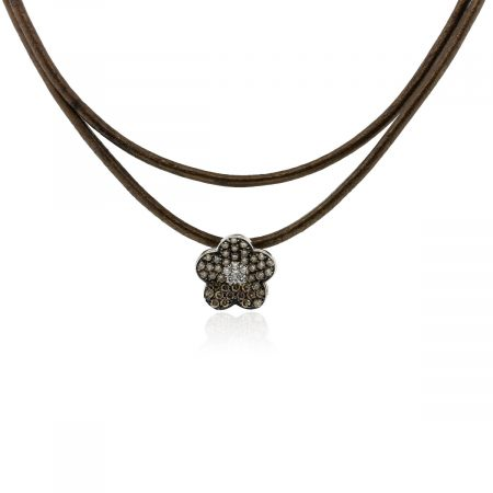 Kronen diamond flower necklace