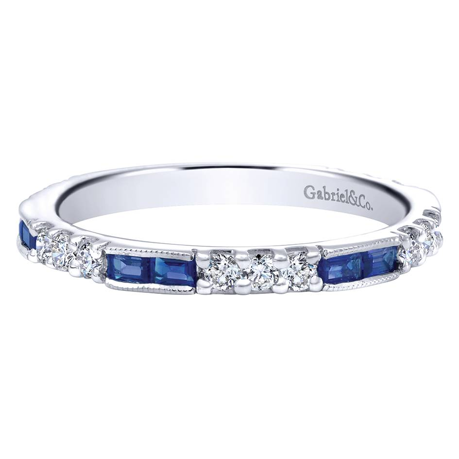 Gabriel Amp Co Engagement Rings 14k White Gold Sapphire