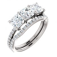 Ever & Ever 3 Stone Engagement Ring Mounting