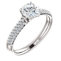 Ever & Ever Accented Diamond Semi-mount Engagement Ring