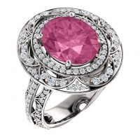 Ever & Ever Oval Diamond Semi-mount Engagement Ring