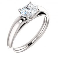 Ever & Ever Solitaire Oval Diamond Engagement Ring Mounting