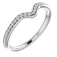 Ever & Ever Accented Diamond Wedding Band