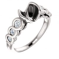 Ever & Ever Infinity-Style Diamond Semi-mount Engagement Ring