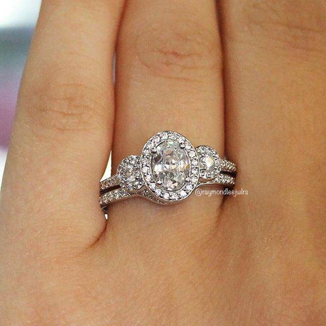 Three Stone Engagement Ring Oval
