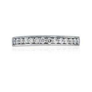 14k White Gold Diamond Ladies Wedding Band