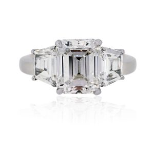 Gia Certified Emerald Cut Diamond Ring