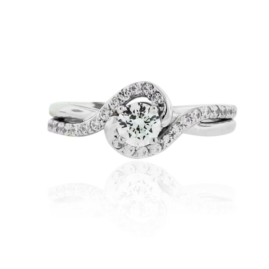 a jaffe engagement rings twisted 28ctw ring mounting