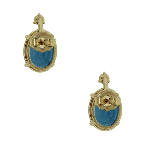 Post Friction Yellow Gold Earrings
