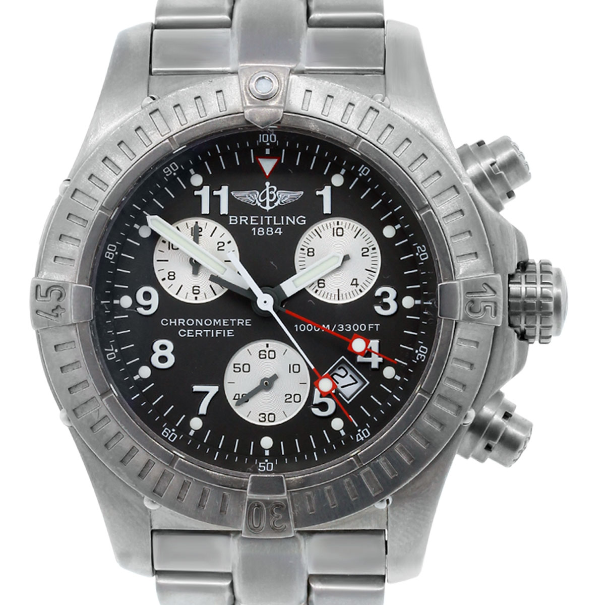 Breitling e73360 avenger m1 chronograph titanium watch for Titanium watches