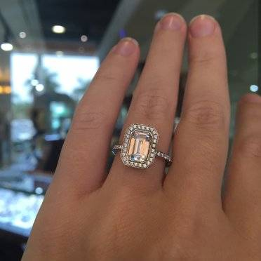 just engaged years moissanite rings cut ago topic radiant unfathomably modified this months ring was by
