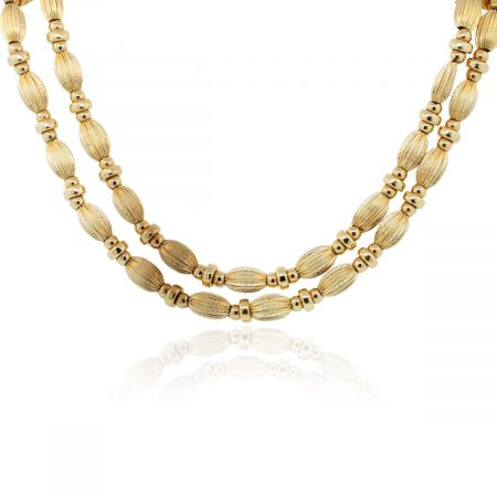 Yellow Gold oval Necklace