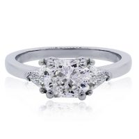 Platinum 1.63ct Radiant GIA cert. Diamond Engagement Ring