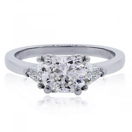 GIA certified radiant cut diamond ring