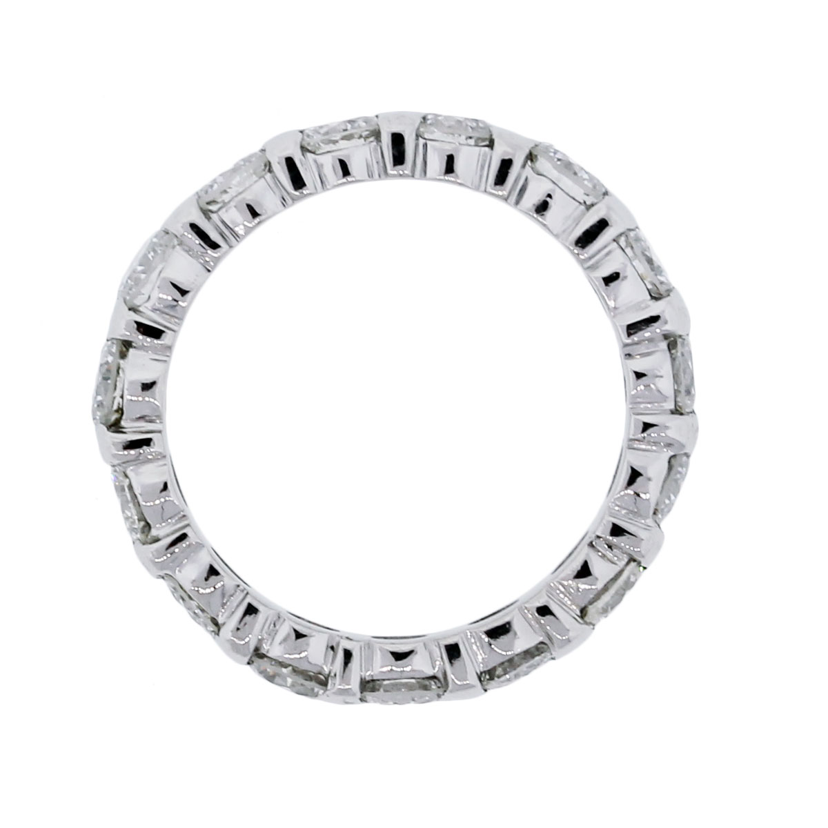 platinum 2ctw brilliant eternity band ring