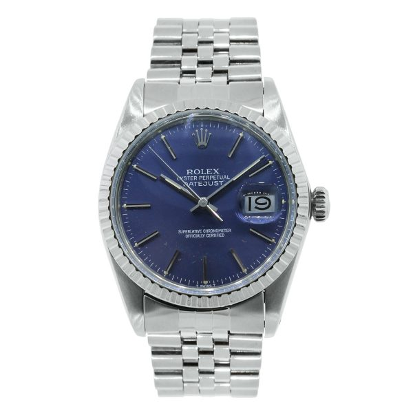Rolex 16030 stainless steel blue dial watch