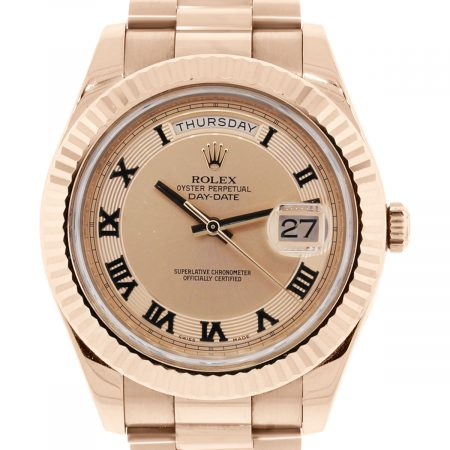 Rose Gold Rolex Day Date II Watch