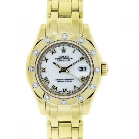 Rolex diamond bezel datejust watch