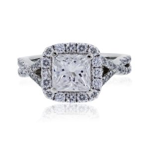white gold 1ct diamond ring
