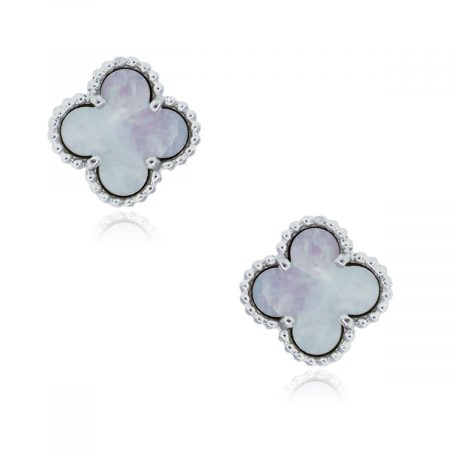 VCA mother of pearl alhambre earrings