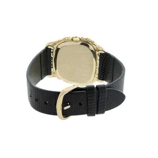 Yellow Gold Watch on Leather