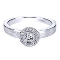Gabriel & Co. 14k White Gold 0.16ctw Diamond Halo Ring Mounting