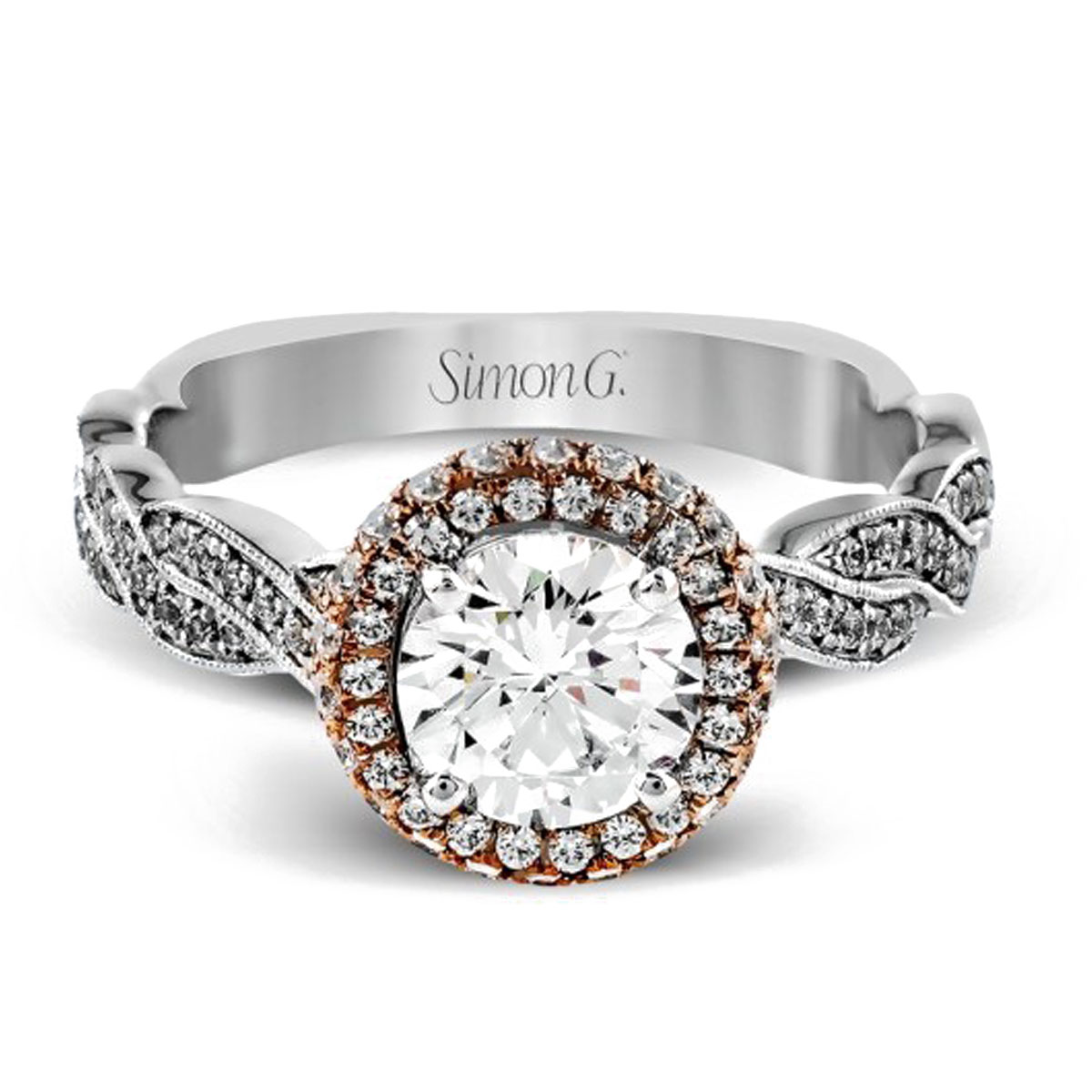 simon g engagement rings white gold 18k engagement ring