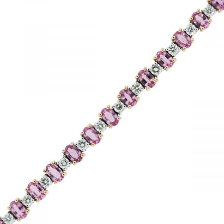 Rose Gold and White Gold Diamond Bracelet