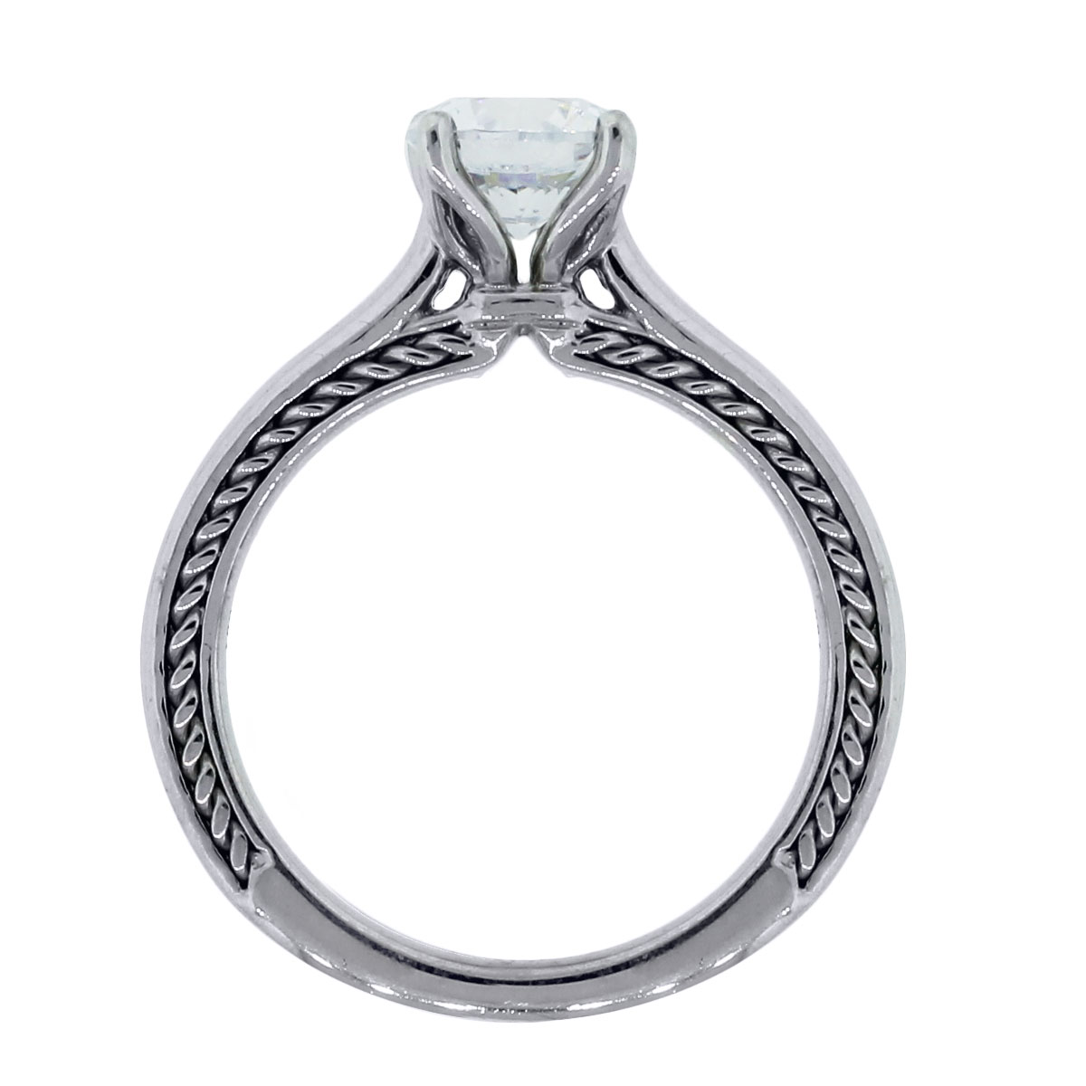ritani solitaire braided engagement ring