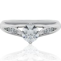 RITANI Vintage Tulip 0.08ctw Diamond Engagement Ring