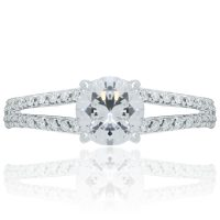 RITANI Double French-Set 0.24ctw Diamond Engagement Ring