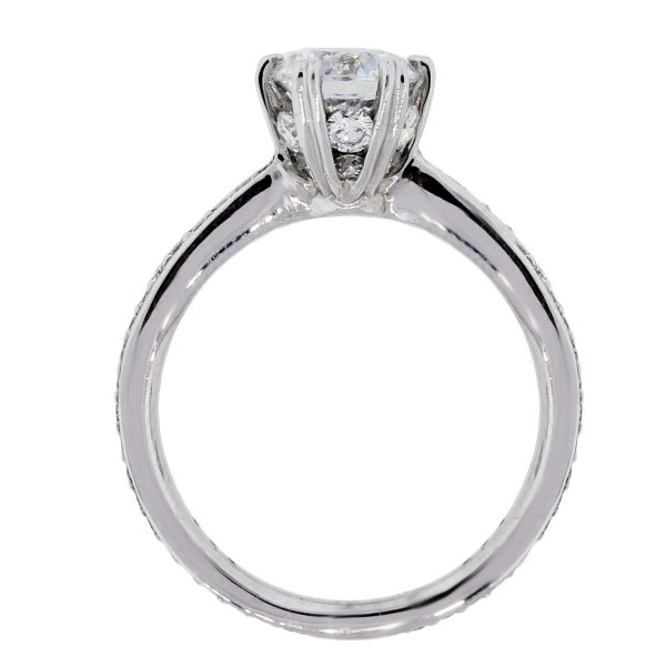 Micropavé Engagement Ring