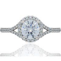 RITANI French-Set 0.23ctw Diamond Halo Engagement Ring