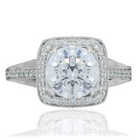 RITANI Masterwork 0.48ctw Diamond Halo Engagement Ring