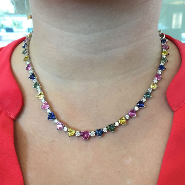 Heart Sapphire Necklace
