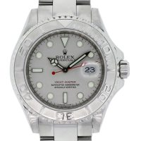 Rolex 16622 Yacht Master Platinum Bezel Steel Watch