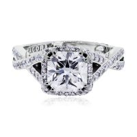 Tacori Dantela 18k White Gold 1.43ct Certified Diamond Engagement Ring
