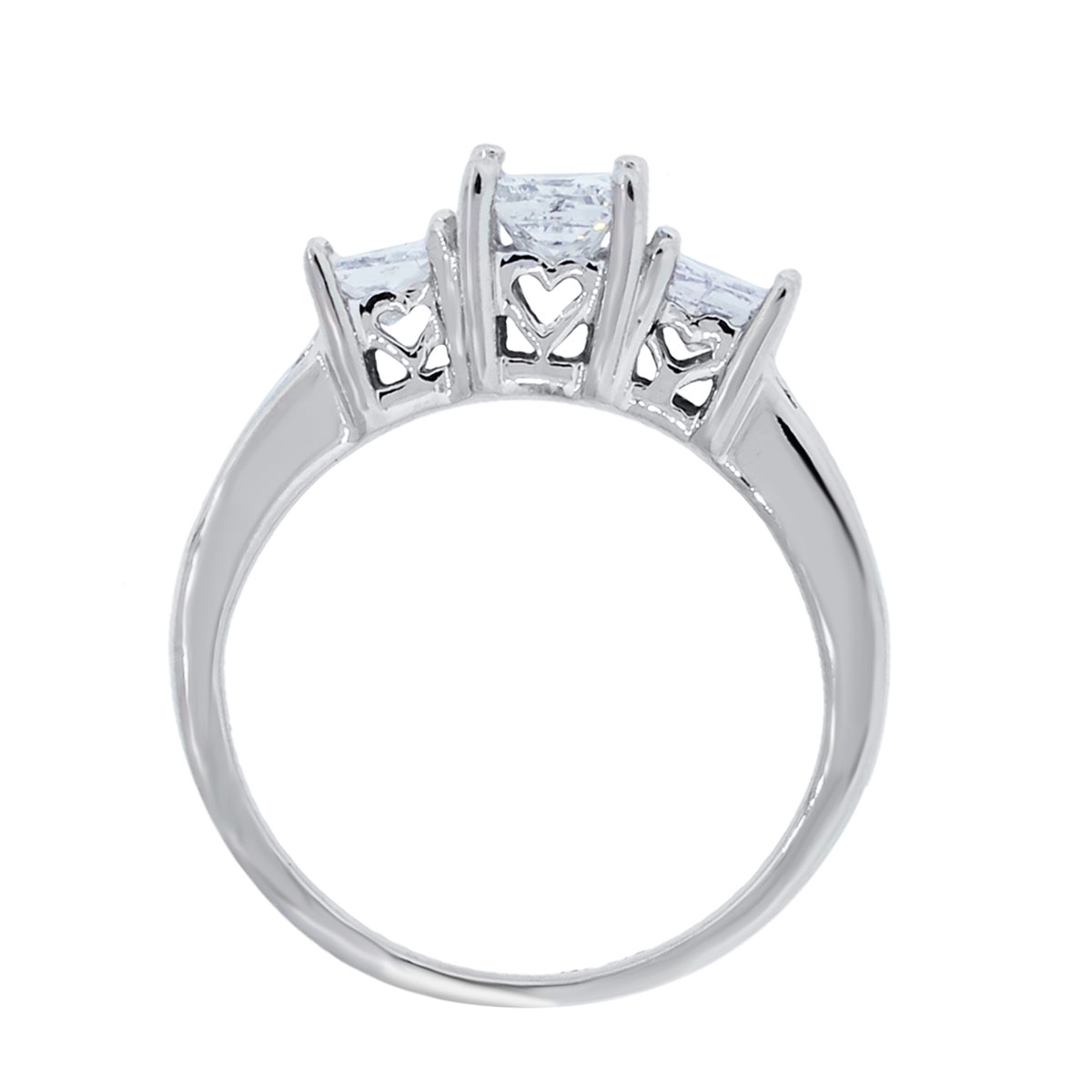 14k white gold 110ctw princess cut diamond engagement ring