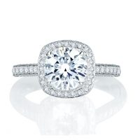 A. Jaffe Quilted 0.75ctw Diamond Engagement Ring